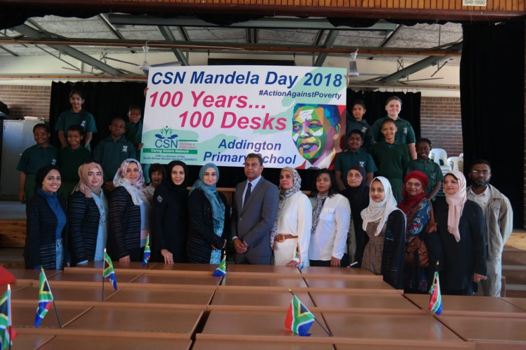 THE CARING SISTERS NETWORK MANDELA DAY DESK CAMPAIGN