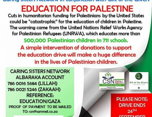 CSN EMERGENCY EDUCATION SUPPORT FOR PALESTINE