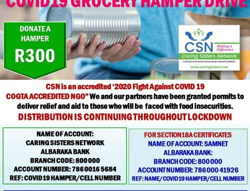 COVID-19 Food & Grocery Hamper Drive