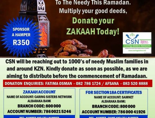 THIS RAMADAAN GIVE THE GIFT OF FOOD –  CSN ZAKAAH APPEAL