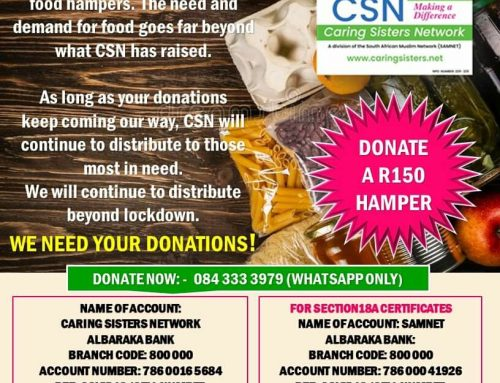 CSN COVID-19 UPDATED R150 GROCERY HAMPER: AN APPEAL FOR MORE FUNDS DUE TO EXTENDED LOCKDOWN