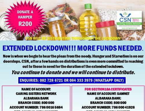 CSN COVID-19 UPDATED R200 GROCERY HAMPER: AN APPEAL FOR MORE FUNDS DUE TO EXTENDED LOCKDOWN
