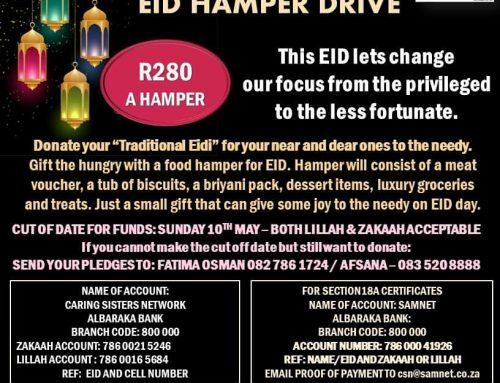 CSN EID FOOD HAMPER DRIVE