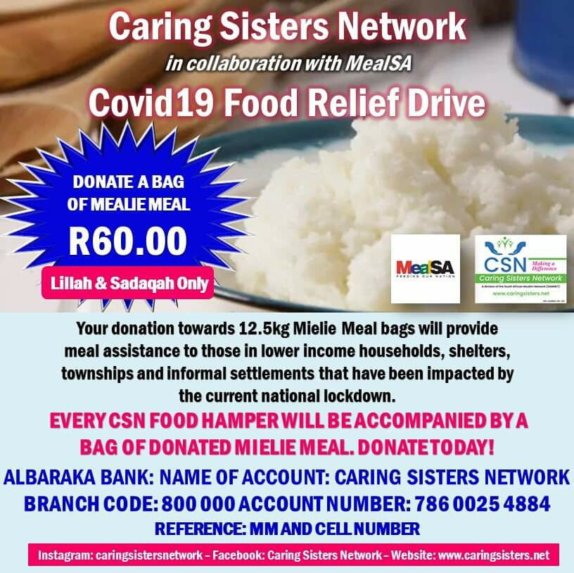 CSN IN COLLABORATION WITH MEALSA – COVID-19 FOOD RELIEF DRIVE