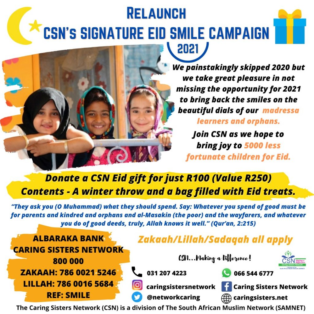 CSN EID SMILE CAMPAIGN RELAUNCHED 1442/2021