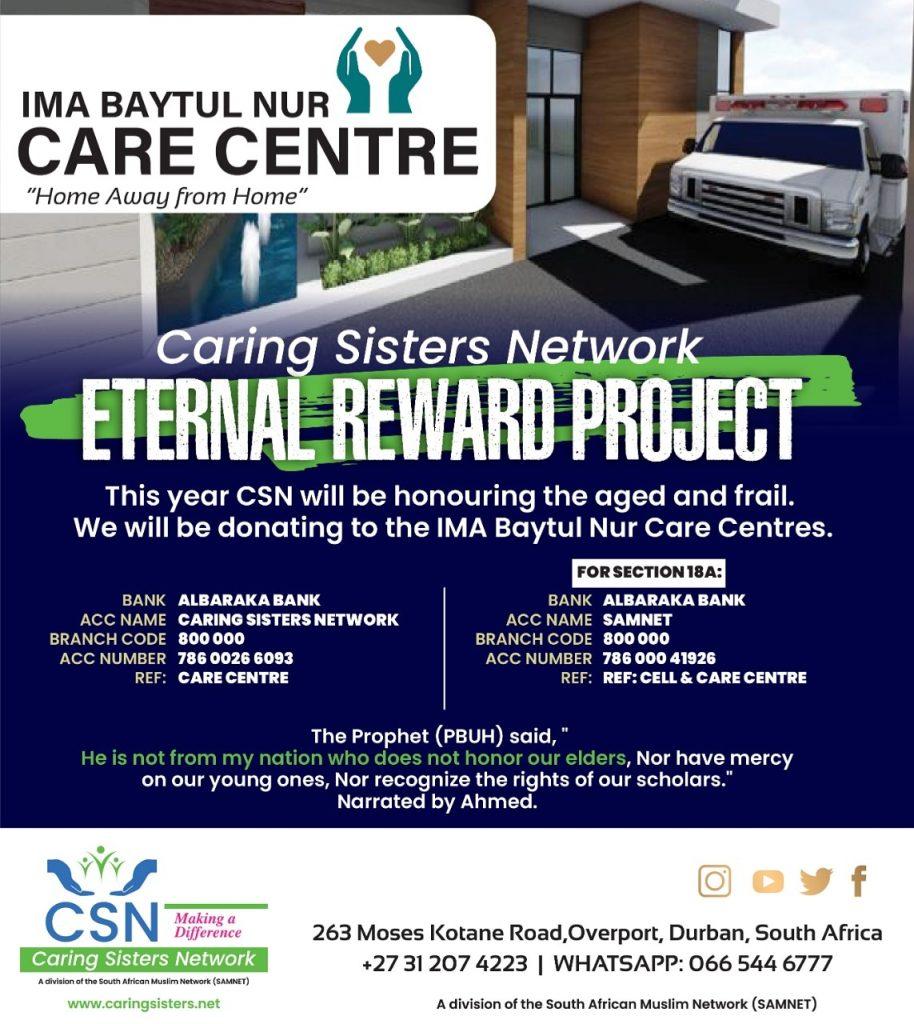 Caring Sisters Network ETERNAL REWARD PROJECT
